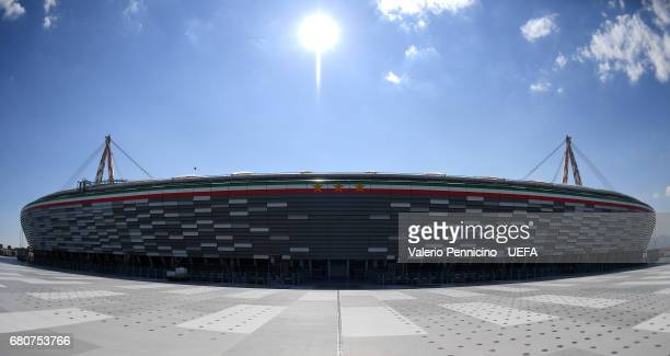 A general view of the Juventus Stadium prior to the UEFA Champions League Semi Final second leg match between Juventus and AS Monaco at Juventus...