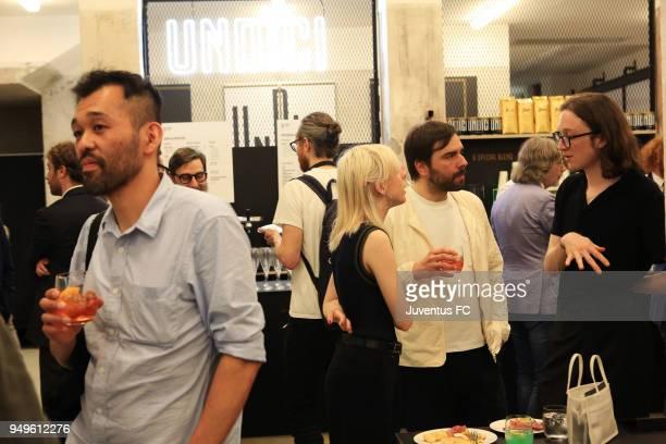 General view of the Juventus Undici experience dinner at Milan Design Week 2018 on April 20 2018 in Milan Italy