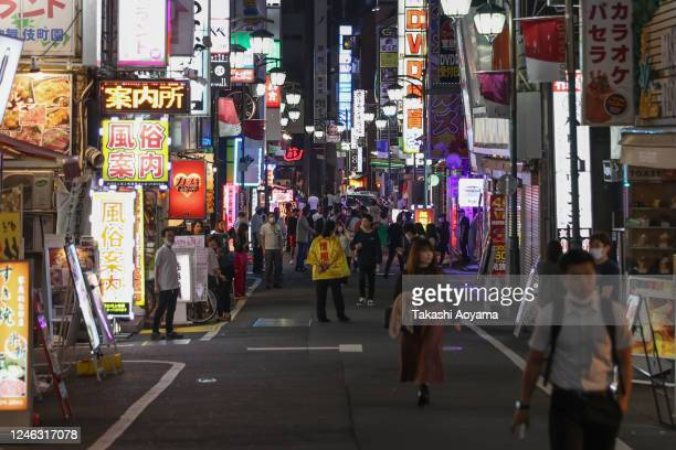 General view of the Kabukicho entertainment area on June 05, 2020 in Tokyo, Japan. On May 25, the Japanese government lifted a nation wide state of...