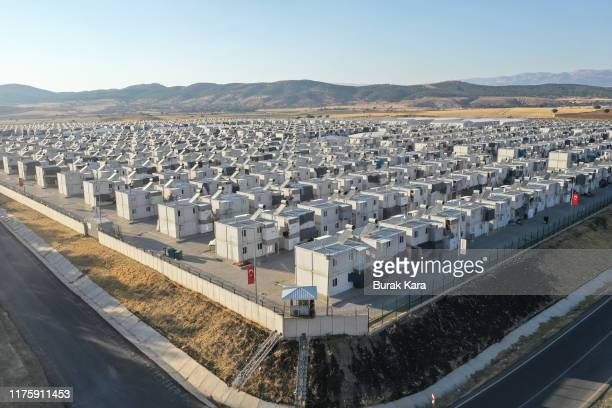 A general view of the Kahramanmaras refugee camp which is hosting 11500 people from northern Syrian on September 19 2019 in Kahramanmaras Turkey...