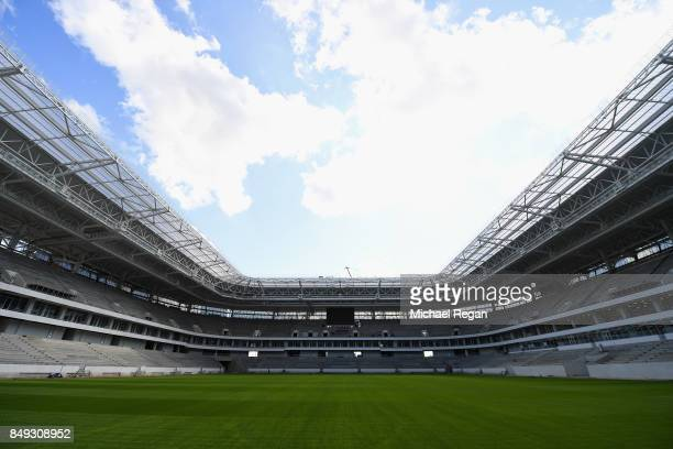 EMBER 16 A general view of the Kaliningrad stadium on September 16 2017 in Kaliningrad Russia