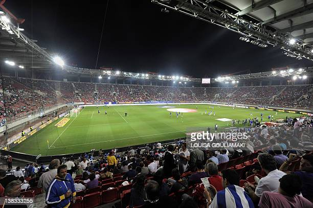 A general view of the Karaiskaki stadium in Piraeus host stadium of the Greek national team and Olympiacos Piraeus team during the Greece v Croatia...