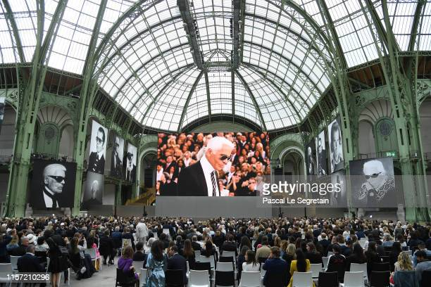 General View of the Karl Lagerfeld Homage at Grand Palais on June 20, 2019 in Paris, France.