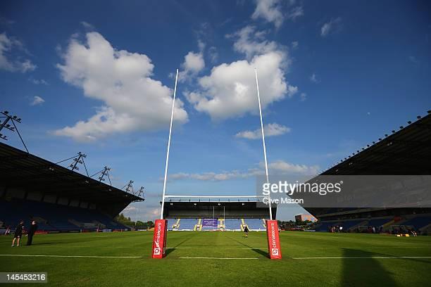 General view of the Kassam Stadium before the RFU Championship Playoff 2nd leg match between London Welsh and Cornish Pirates at Kassam Stadium on...