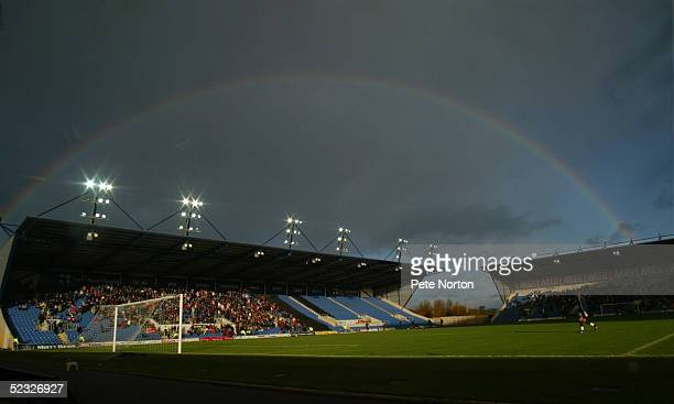 A general view of the Kassam Stadium prior to the Coca Cola League Two match between Oxford United and Northampton Town held at the Kassam Stadium...