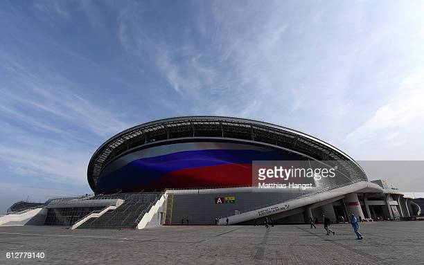 A general view of the Kazan Arena during the FIFA News Agencies Tour for the FIFA Confederations Cup 2017 on October 4 2016 in Kazan Russia