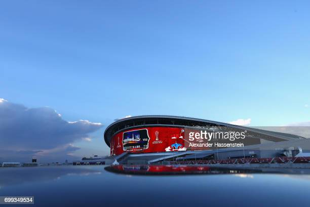 A general view of the Kazan Arena on June 21 2017 in Kazan Russia