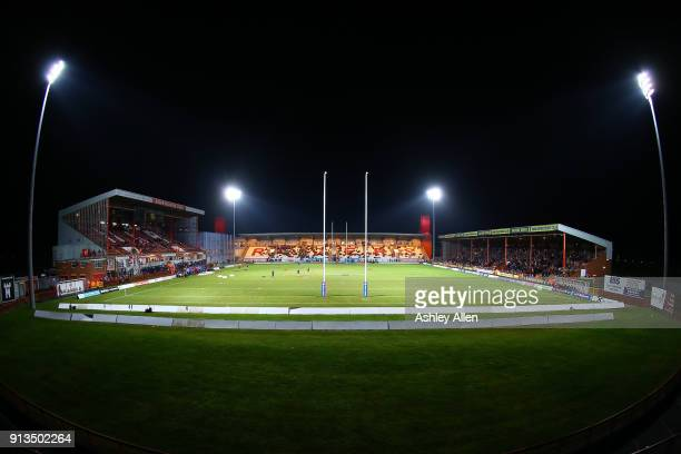 General view of the KCOM Craven Park prior to kick-off during the BetFred Super League match between Hull KR and Wakefield Trinity at KCOM Craven...