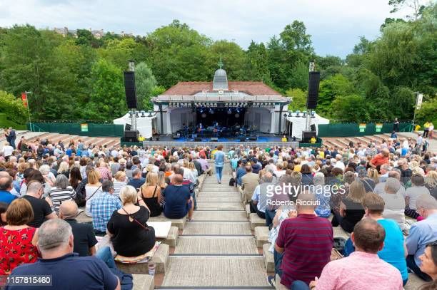 General view of the Kelvingrove Bandstand before Burt Bacharach's concert at Kelvingrove Park on July 26 2019 in Glasgow Scotland