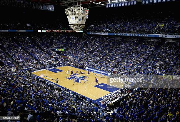 A general view of the Kentucky Wildcats game against the Grand Canyon Antelopes at Rupp Arena on November 14 2014 in Lexington Kentucky