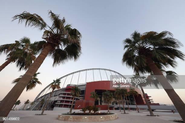 General view of the Khalifa International Stadium on January 4, 2018 in Doha, Qatar.