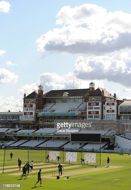 General view of the Kia Oval during an Australian Nets Session at The Kia Oval on August 19 2013 in London England