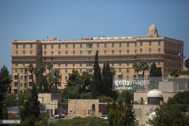 A general view of the King David Hotel in Jerusalem on June 25 2018 in Jerusalem Israel Britain's Prince William Duke of Cambridge will arrive in...