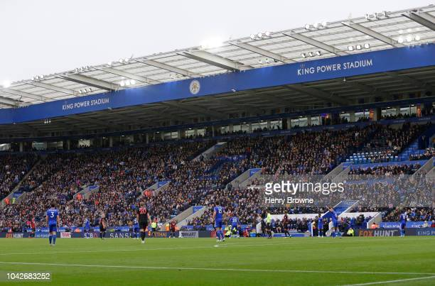 General view of the King Power stadium during the Premier League match between Leicester City and Huddersfield Town at The King Power Stadium on...