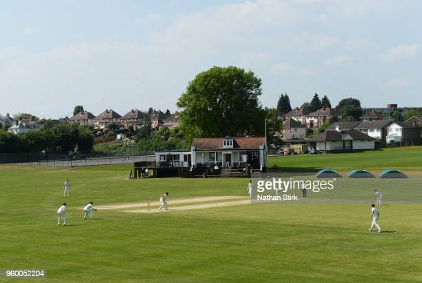 General view of The King's High School cricket ground next to New Road stadium in Worcestershire on May 19 2018 in Worcester England