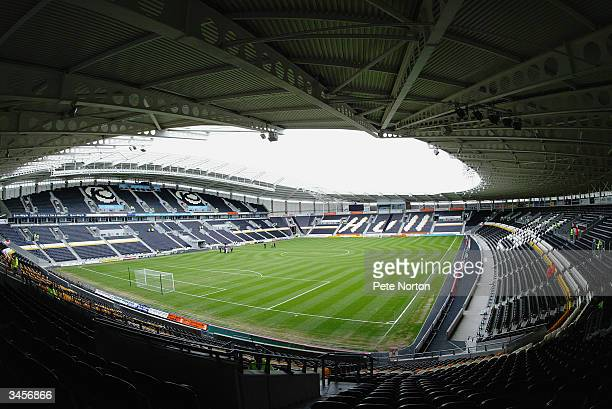 General view of the Kingston Communications Stadium home to Hull City football club taken during the Nationwide League Division Three match between...