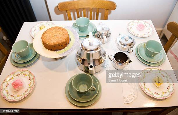 A general view of the kitchen table in the townhouse of Fashion designer duo Antoni Alison as they make their debut at Open House London on September...