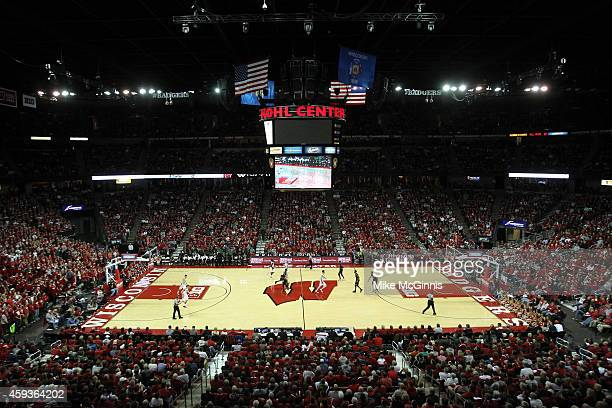 General view of the Kohl Center during the game between the Green Bay Phoenix and the Wisconsin Badgers at Kohl Center on November 19 2014 in Madison...