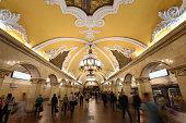 moscow russia general view komsomolskaya metro