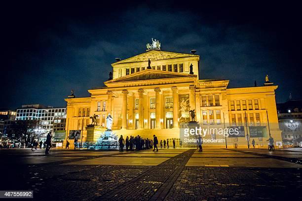 General view of the Konzerthaus during Yellow Lounge organized by recording label Deutsche Grammophon at Konzerthaus Am Gendarmenmarkt on March 16,...
