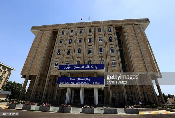 A general view of the Kurdish parliament building on April 29 in the northern Iraqi Kurdish city of Arbil AFP PHOTO/SAFIN HAMED