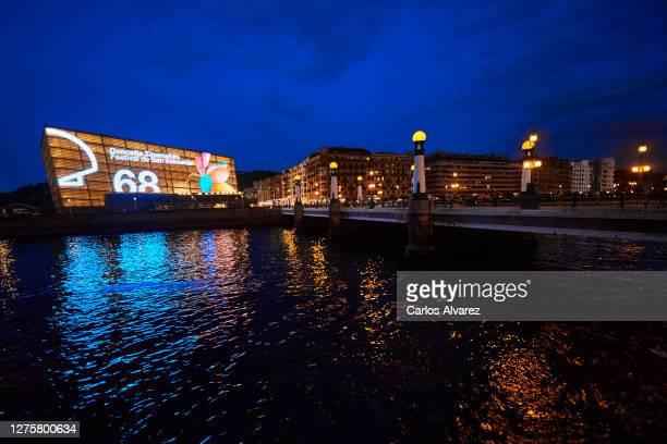 General view of the Kursaal Palace during the 68th San Sebastian International Film Festival on September 22, 2020 in San Sebastian, Spain.