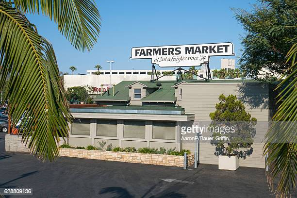 General view of the LA Farmers Market at 3rd and Fairfax on December 05 2016 in Los Angeles California
