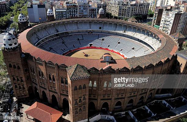 A general view of the 'La Monumental' bullfighting arena in Barcelona on September 25 2011 Top matadors will perform in Barcelona's Monumental arena...
