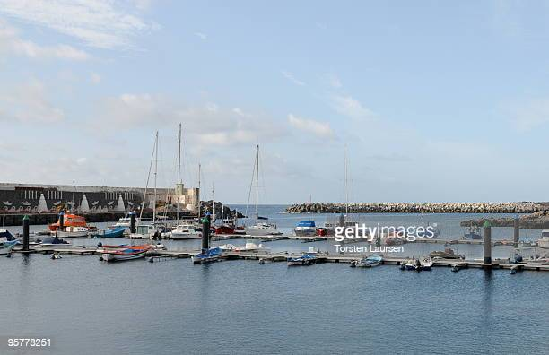 A general view of the La Restinga port on El Hierro Island January 13 2010 in El Hierro Island Spain The island inspired and features in the new film...