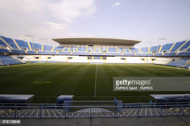 A general view of the La Rosaleda Stadium home of Malaga CF