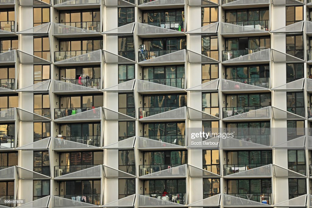 General Views Of High Rise Tower Blocks In Melbourne : News Photo