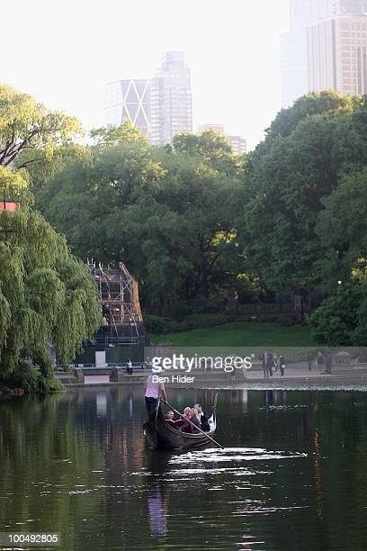 A general view of the lake at the Urban Stages' 26th Annual Benefit Celebrating The Harlem Renaissance Then and Now at Loeb Central Park Boathouse on...