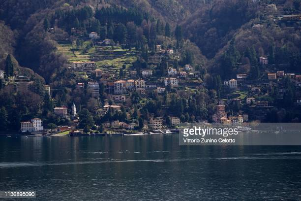 A general view of the Lake Como on March 19 2019 in Como Italy The Lake Como is the deepest Italian Lake Lake Como is falling with a shortfall of 95...