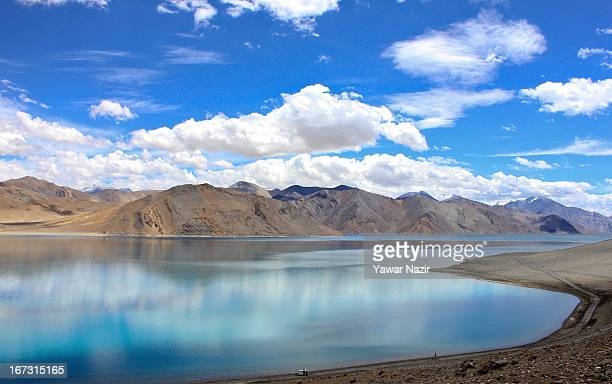 A general view of the lake in Pangong a disputed territory between India and China on August 4 2012 in Ladakh Indianadministered Kashmir