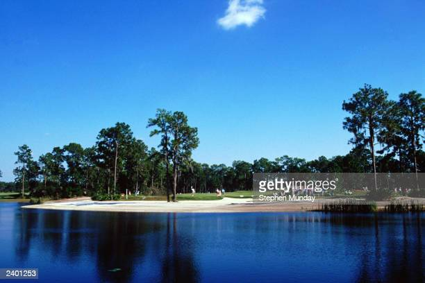 A general view of the Lake Nona Golf course during the Solheim Cup in 1990 at the Lake Nona Golf Club in Florida USA