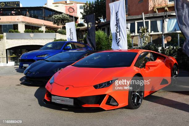 A general view of the Lamborghini Lounge on August 02 2019 in Porto Cervo Italy