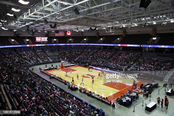 A general view of the Landers Center during an NBA GLeague game between the Santa Cruz Warriors and the Memphis Hustle on January 30 2019 at Landers...