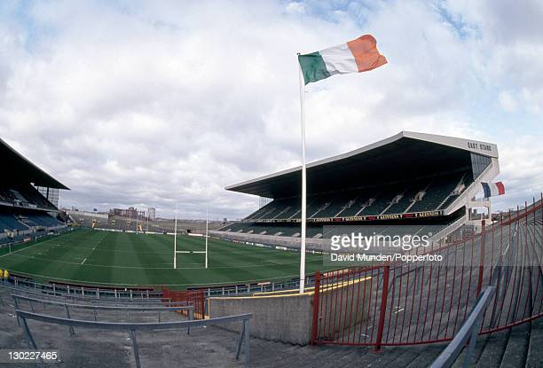 General view of the Lansdowne Road ground in Dublin before the Ireland versus France Rugby Union International on the 20th February 1993