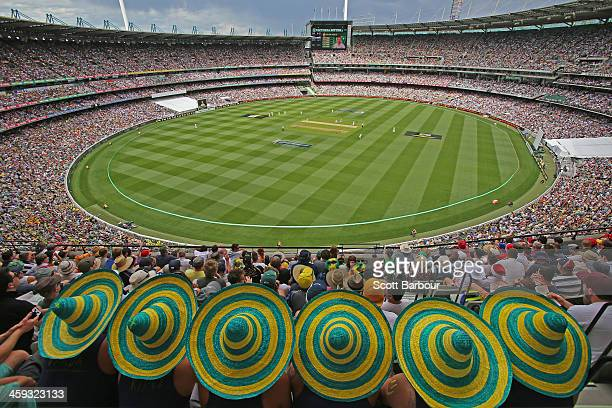 General view of the large crowd during day one of the Fourth Ashes Test Match between Australia and England at Melbourne Cricket Ground on December...