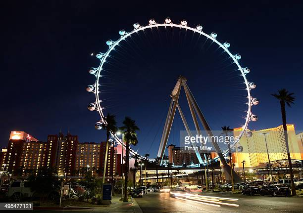 A general view of the Las Vegas High Roller at The LINQ on June 2 2014 in Las Vegas Nevada The 550foottall attraction is the highest observation...