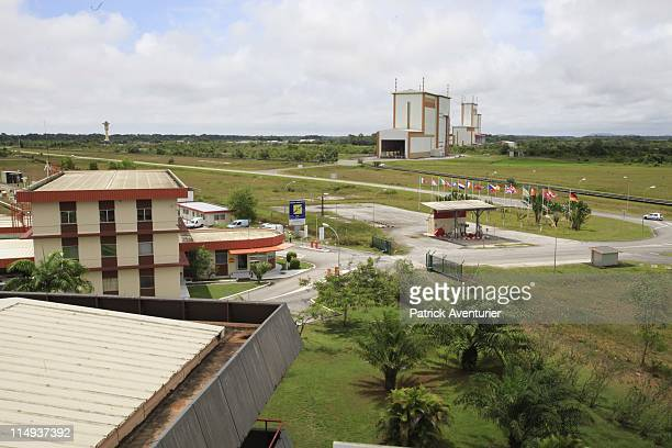 A general view of the launch complex at the European Spaceport on May 3 2011 in Kourou French Guyana Ariane 5 launched on May 21 2011 carrying two...