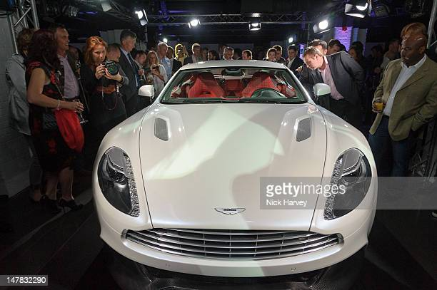 General view of the launch of Aston Martin Vanquish at the London Film Museum on July 4 2012 in London England