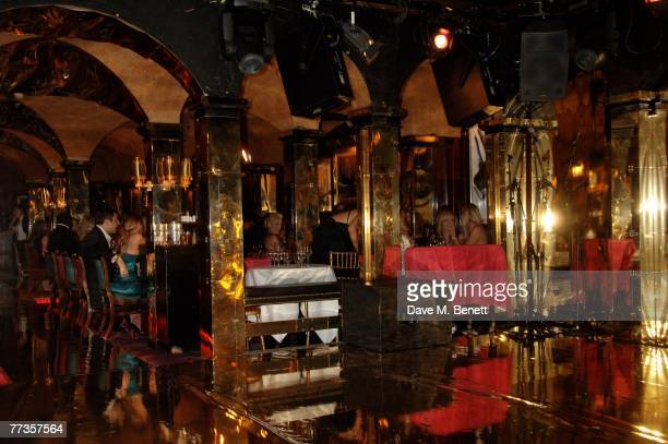 A general view of the launch of Kate Moss's new Top Shop 'Christmas Range' collection at Annabel's October 16 2007 in London England