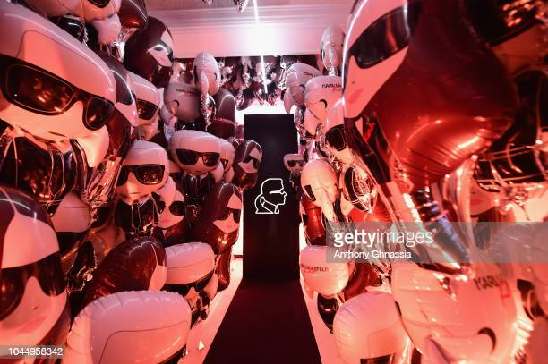 General view of the launch of the Karl x Kaia collaboration capsule collection on October 2 2018 in Paris France