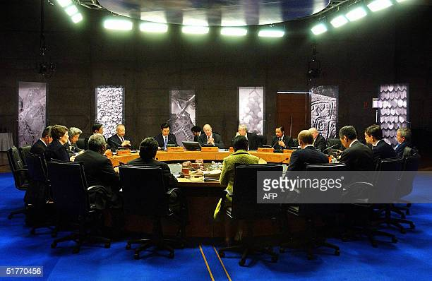 General view of the leaders meeting of the APEC Summit at the Espacio Riesco Convention Center in Santiago, 20 November 2004. Asia-Pacific leaders...