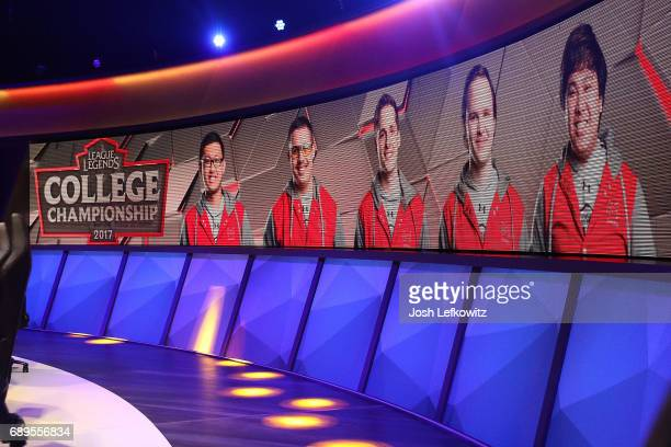A general view of the League of Legends College Championship Game between Maryville University and the University of Toronto at the NA LCS Studio at...