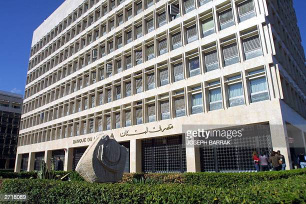 General view of the Lebanon's Central Bank in the Hamra thoroughfare in the capital Beirut 11 November 2003. AFP PHOTO / Joseph BARRAK