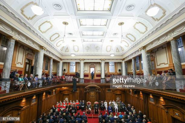 A general view of the Legislative Council Chamber during the State Opening of Parliament on November 8 2017 in Wellington New Zealand Labour leader...