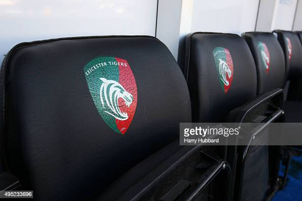 General view of the Leicester Tigers dugout before the Aviva Premiership match between Leicester Tigers and Wasps at Welford Road on November 1 2015...