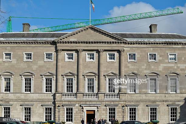 General view of the Leinster House in Dublin, seat of Dail Eireann. The Dail Eireann, lower house of Irish parliament, on Thursday afternoon failed...